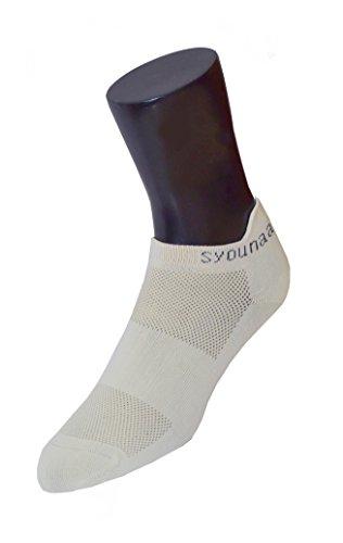 Reebok Women/'s Yoga Studio Cushioned Ankle Socks With Anti Slip Silicon Grip