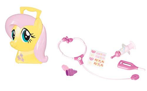 Jamara 410100 Koffer My Little Pony Fluttershy-6-Teiliges Spieleset, liebevoll ausgesuchte Arztutensilien, Stabiler und handlicher Tragekoffer, fördert Fantastische Rollenspiele, gelb (Pony-koffer My Little)