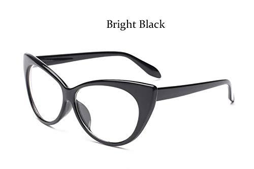MOJINGYAN Sonnenbrillen Mode Brillen Cat Eye Optische Gläser Frauen Transparente Brillenmarke Designer Vintage Clear Lens Frame, B