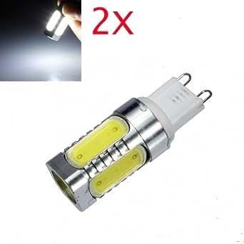 Hohe Qualität 2X G9 7W COB Weiß Aluminium LED Mais -Glühlampe 220V