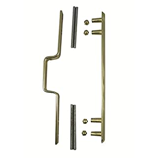 Kickstop 9604 Large 30mm x 70mm Stapleguard Polished Brass