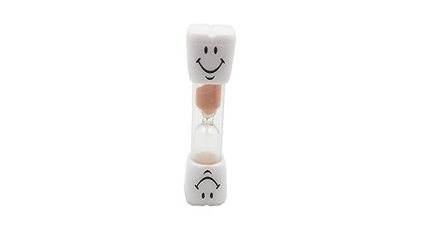 Dowoa 3 Minutes sablier 4 pi/èces Smiley Enfants brossage des Dents minuterie Dessin anim/é Couleur Sable sabliers Ensemble Jouet Cadeau sablier en Plastique