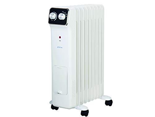PURLINE HOTI OR2000 Radiador de aceite, 2000 W, 9 elementos, termostato, 3 niveles de potencia, regulador...