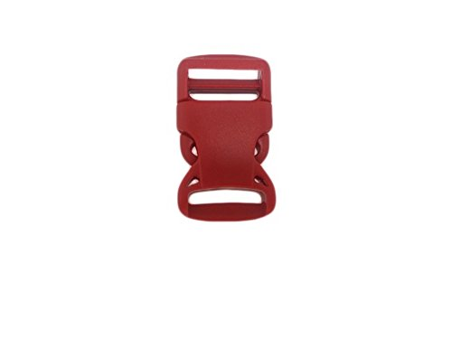 Lot de 10 Fermeture à clic à douille/Boucle/fermeture pour sangle 25 mm de large, Couleur Rouge