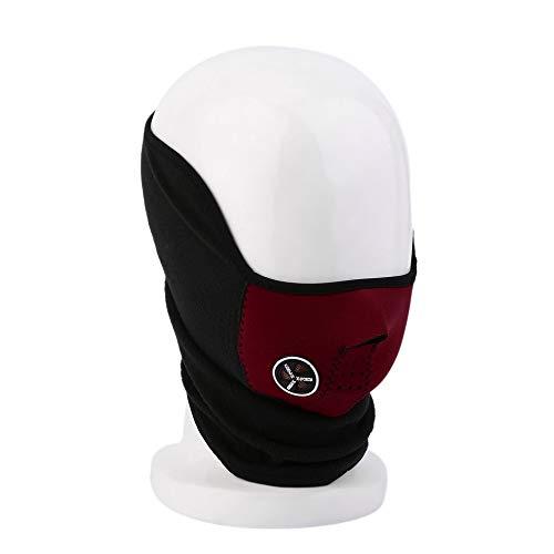 Kacanna Komfortable Outdoor-Motorrad Warme Maske Kopfbedeckungen Elektroauto-Visier Winddicht Radfahren Maske für Skifahren Reiten Gesichtsmaske