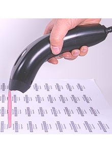 Albasca USB Handscanner MK-1000 Barcode-Scanner -MIT STÄNDER- bis 390mm Leseabstand - 270 Scans/Sek. 32bit schnell, hochauflösend, liest auch die GS1 Codes - 2
