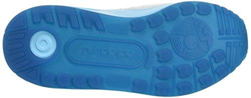 adidas Jungen Zx Flux Adv K Halbschuhe mehrfarbig (Ftwwht/Ftwwht/Bluglo)