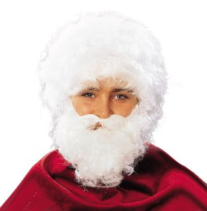 Imagen 1 de Cesar - Peluca con barba blanca para disfraz de Papá Nöel para hombre (adulto)