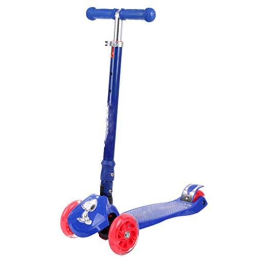 SAN_Q Dreirad Roller Kinder Roller Dreirad 2-4 Jahre Alten Baby Roller Verstellbare Dreirad Leichte Schlitten (Farbe : Blau)