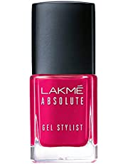 Lakmé Absolute Gel Stylist Nail Color, Pink Drama, 12 ml