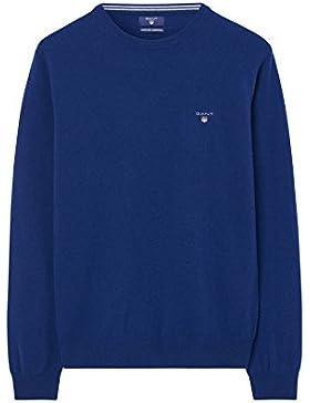 Gant Hombre Tejido de lana de oveja súper fino, Azul