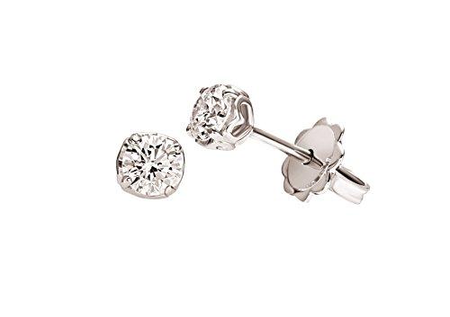 Orecchini Solitario Anniversary Recarlo Kt. 0,20 Diamante E Oro Bianco