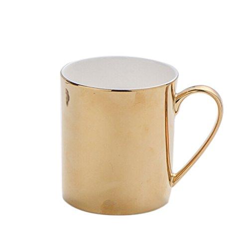 Kelly' Harvest House Schicke Keramik-Gold u. Silber-Kaffeetasse, Kaffeetasse