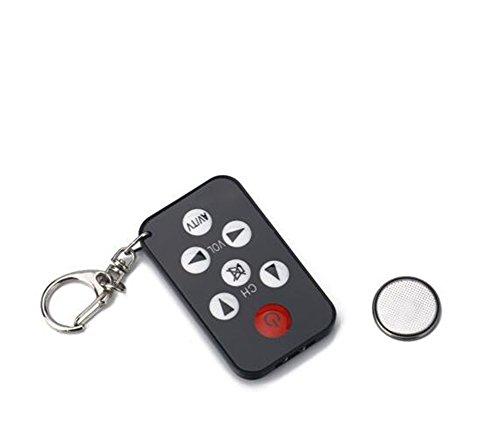 homiki 1pc universal por infrarrojos Anillo llavero Mini TV televisión mando a distancia controlador inalámbrico Smart Remote Controller incluye la batería Negro