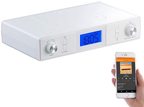 auvisio Küchenradio: Stereo-FM-Küchen-Unterbauradio mit Bluetooth, Timer, Wecker, LCD, PLL (Unterbau Küchenradio)