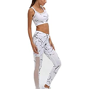 KAYLEY Damen Yoga Wear Set Damen Sports Tracksuit Jogging Suit 2Piece Sleeveless Outfit Sports Running Sexy