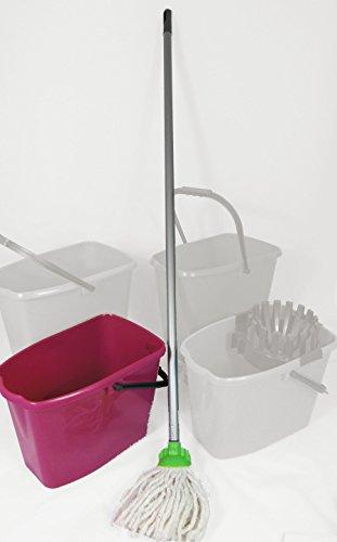 Preisvergleich Produktbild 2 Stück Kinder Putz Set Wischmopset 10 Liter Eimer 110 cm Mop Bodenwischer - KIRSCH