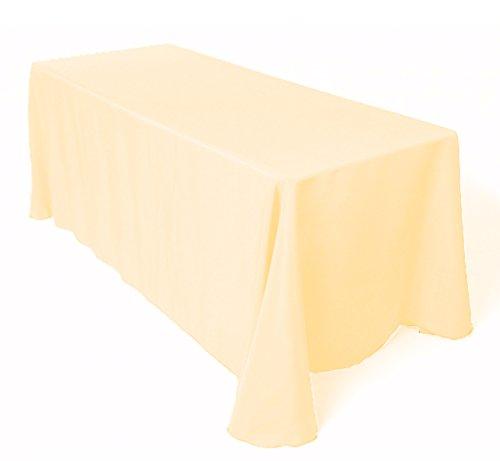 Spun Polyester Tablecloths / Napkins 3 Colours Wedding Decor Dinner Table (Ivory, 70″x144″ Rectangle Tablecloth)