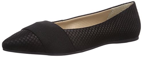 Buffalo London ZS 3232-13 FISH SKIN, Damen Geschlossene Ballerinas, Schwarz (BLACK 01), 36 EU