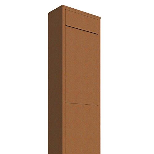Standbriefkasten, Design Briefkasten Big Box Rost - Bravios