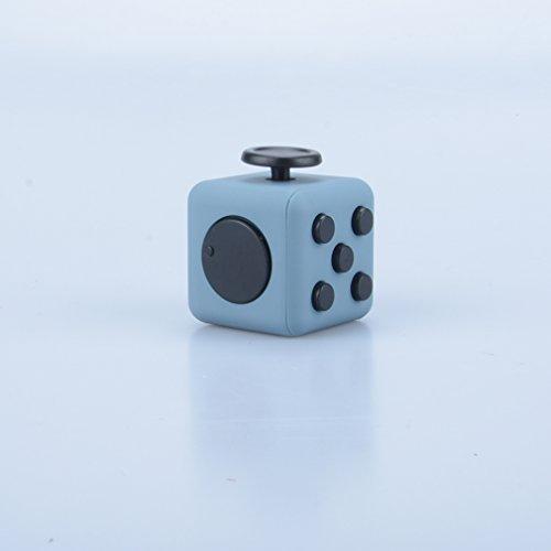 Fidget Spinner, Premium Hybrid Si3N4 Roulement Tri-Spinner Fidget Spinning Toys Tuer le temps Soulager le stress (Cube Noir Gris)
