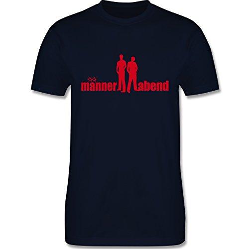 JGA Junggesellenabschied - Männerabend - Herren Premium T-Shirt Navy Blau