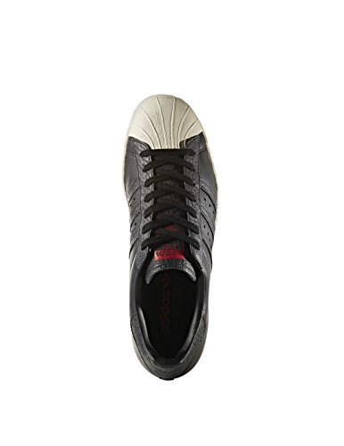 adidas Superstar 80s, Scarpe da Ginnastica Basse Uomo Nero (Core Black/core Black/solar Red)