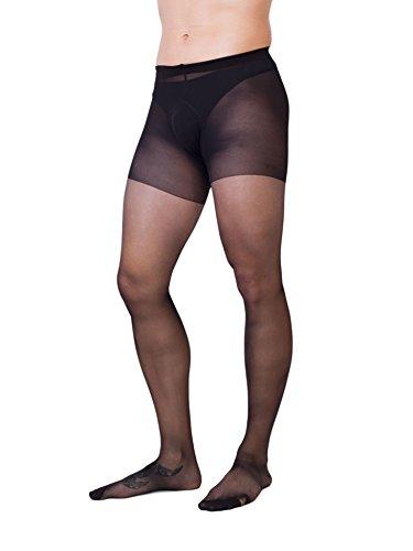 Collanto Herrenstützstrumpfhose Leg Support 40 Schwarz