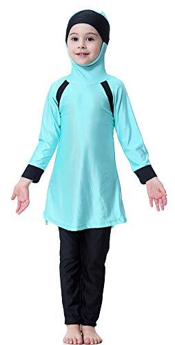 TianMai Mädchen Kinder Muslimische Bademode Islamische Schwimmanzug Badeanzug Burkini Muslim Swimwear (N1, 140cm) (Muslimische Mädchen)