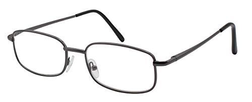 741a9749db5 TBOC Gafas de Lectura Presbicia Vista Cansada - Graduadas +1.50 Dioptrías  Montura Metálica Gris Titanio