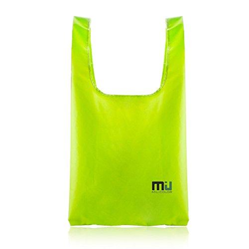 Miu Color® Super forte di cotone felpato Nylon Shopper borsa riutilizzabile per la spesa, verde