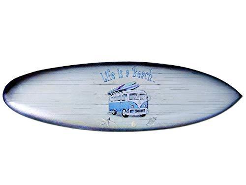 Seestern Sportswear Deko Holz Surfboard 50,80 oder 100 cm Airbrush Design Surfing Surfen Wellenreiten Surf /FBA_1857 50 cm
