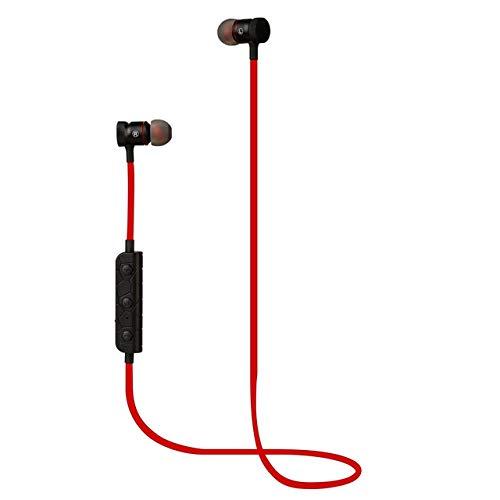 Preisvergleich Produktbild Jasnyfall M90 Sport-Kopfhörer drahtloser Bluetooth Kopfhörer Magnetic Music Micro-Kopfhörer rot
