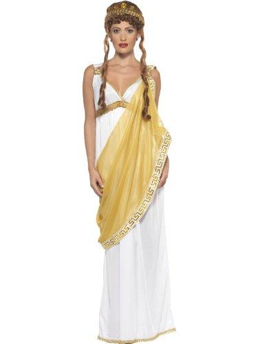 Smiffys, Damen Helena von Troja Kostüm, Kleid und Diadem, Größe: M, 23024