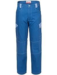 SERIOTECH Pantalone Bicolore con Tasche Laterali Cotone Robusto Blu Royal  A00225 673724ddf67