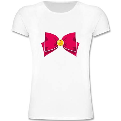Sailor Kostüm Shorts Girl - Karneval & Fasching Kinder - Superheld Manga Moon Kostüm - 104 (3-4 Jahre) - Weiß - F131K - Mädchen Kinder T-Shirt