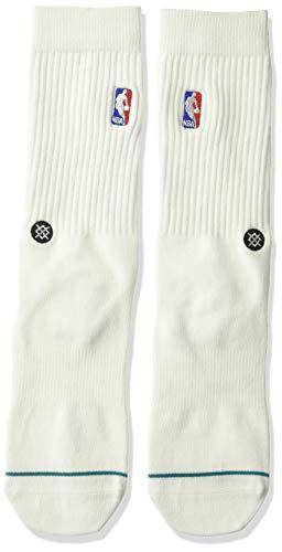 Stance NBA Logoman Crew Socks - White