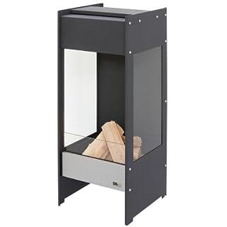 Arte Puro Terrassenofen lateNight Stahl schwarz mit Schott Sicherheitsglas