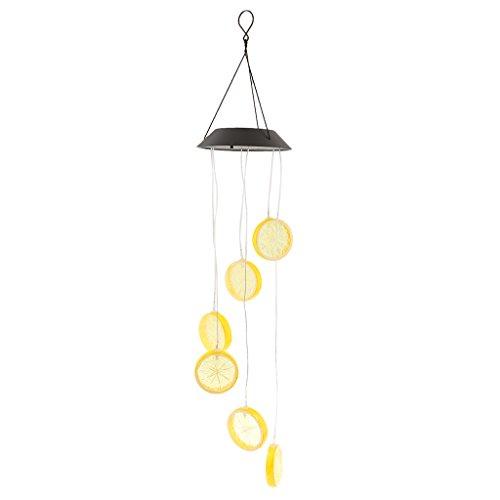 Sharplace Windspiel LED Solarleuchte Solarlampe Farbwechsel Gartenleuchte Hause Garten Dekoration - Zitrone (Zitrone Licht Nacht)