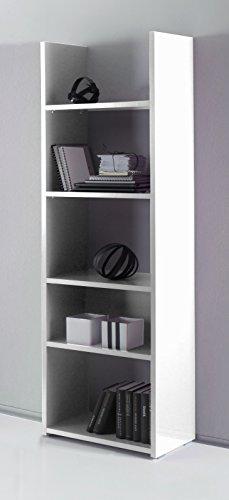 Lc spa 409040–35libreria box, 56x 184x 29cm, bianco/lucido