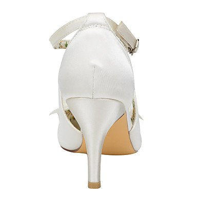 Moda Donna Sandali Sexy donna tacchi Primavera / autunno Altri raso elasticizzato Wedding / Party & sera abito / Stiletto Heel Crystal / Pearl avorio / Bianco Altri Ivory