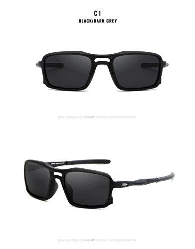 WWVAVA Sonnenbrillen 2019 New Square Sunglasses TR90 Frame Men Polarized SportEyewear Comfortable silicone non-slip UV400 5 Colors,c4