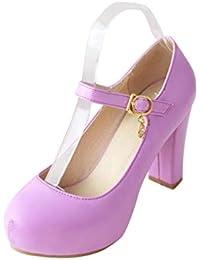 Mujeres Plataforma Bombas Primavera otoño Calzado de Zapatos OL Parte Alta  Zapatos Mary Janes de los 4db68f7390c25
