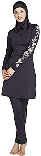 TianMai Muslimische Bademode Muslim Islamischen Bescheidene Full Cover Badebekleidung Modest Swimwear Beachwear Burkini für Frauen (1-2, Int'l M (EU-Größe 36-38))