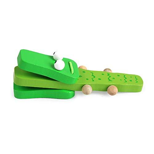 Vektenxi Musikinstrument des hölzernen Krokodils frühkindliche Bildung Puzzle Baby Spielzeug Baby Rassel Kastagnetten Kinder Kleinkind Musik Spielzeug Beste Baby Geschenk bequem und praktisch