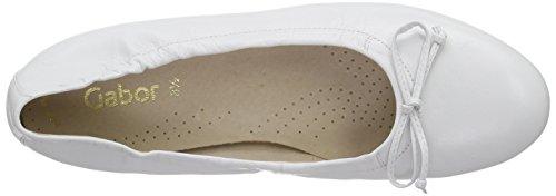 Gabor Shoes 44.120, Ballerine da Donna Bianco (21 Blanque)