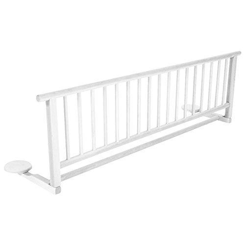 BABY-PLUS Bettgitter Bettschutzgitter Holz weiß