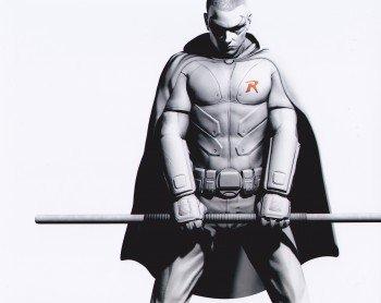 Robin Batman Arkham Knight 10x8 Zoll 25cmx20cm Foto Poster Plakat - Batman City Robin Arkham