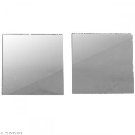 Mosaïque miroir autocollant - 3x3 cm - 45 pièces - Rayher