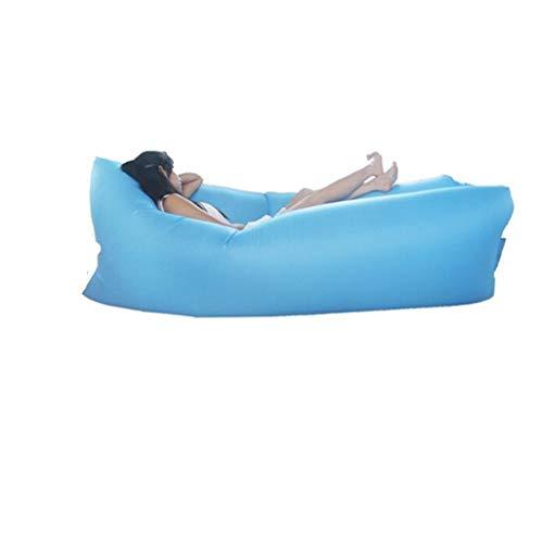 JiuErDP Outdoor faul Tasche tragbare Luft schnell aufblasbare schlafsofa aufblasbare Kissen mittagspause Strand Schlafsack (Farbe : Blau) -